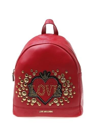 Love Moschino Sırt Çantası Kırmızı